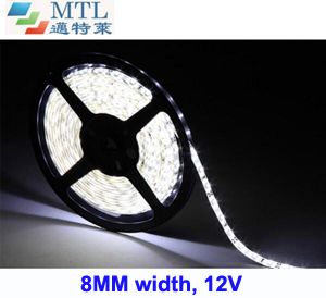 <b>12V 3528 LED strip 8MM width 60LED/M</b>