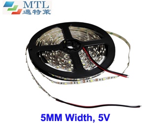 5V 3528 LED strip 5MM width 60 LED/M