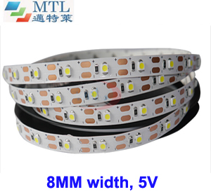 5V 3528 LED strip 8MM width 60 LED/M