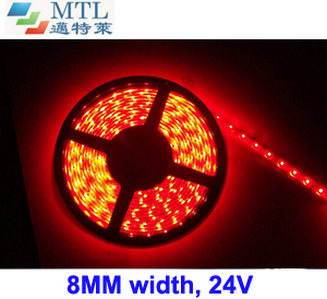 24V 3528 LED strip 8MM width 120LED/M