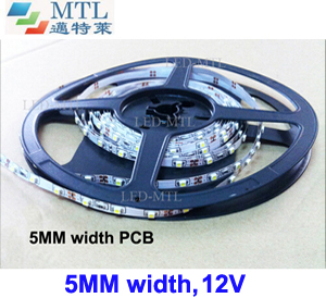 12V 3528 LED strip 5MM width 60LED/M